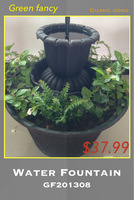 small swimming pool garden water fountain with nozzles