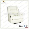 Workwell moderno diseño de sala de estar eléctrico blanco de la pu sofá de cuero reclinable kw-fu44