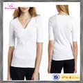 mulheres moda algodão 3 4 blusa manga tops