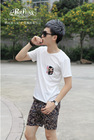 2014 Peijiaxin Latest Design Casual Style Mascot Pattern T shirt with Pocket