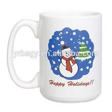 Eco-friendly 16oz holiday mugs/ceramic coffee cup China supplier snowman mug chrismas presant