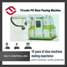Three color JG805G Shoe Moulding Machine