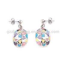 ERE0023 candy girl bow design stud earrings for girls colorful beaded bow earring yopearl earring