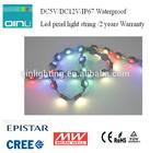 waterproof DMX 512 rgb Led pixel lights string DC12V