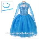 Hot Ball Gown Strapless Sequined Frozen Flower Girl Elsa Princess Children Dresses