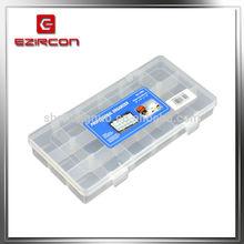 18 lattice inserted piece transparent plastic parts case