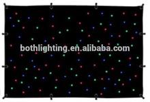Bright mix color RGBW 4X6m led cloth curtain