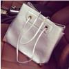 2014 the most popular handbag pu leather silvery bulk beach bag ,handbag factories in china