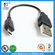lots of cheap black short micro usb cable