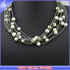NK-00983 Handmade freshwater big potato beaded chunky pearl necklace