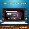 GPS para coche de navegación con android4.2 sistema 6.2 pulgadas 2 din reproductores de DVD