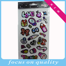 fashion Cindy clear epoxy stickers,Laser resin labels,shinny labels