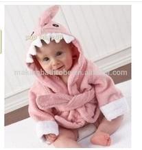 Cartoon Animal fleece Bathrobe for baby