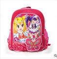 Moda New Design Nylon materiais sacos de escola mochila escolar para meninas com decorações da borboleta