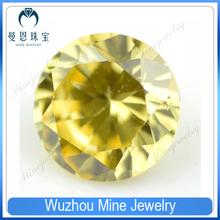 loose golden cubic zircon round cz stones beads