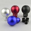 Aluminum Manual Car Gear Shifter Knob Shift Lever Cover With 3 Adapters