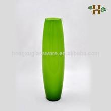 50cm Apple Green Tall Bullet Glass Vases
