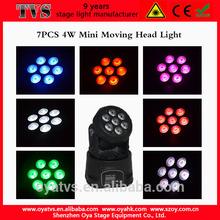 Best selling Oya tvs 7*4w led moving head lights price