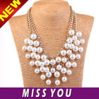 jewellery store design chains pearl charm necklace for wedding