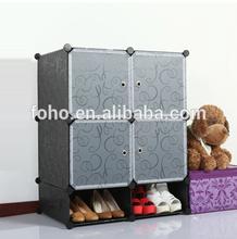 2014 hot selling 6 cubes black cabinet storage organizers FH-AL0518-4