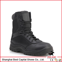 2014 New Lace up Quality Leather Black Men's tactical boots /hiking boots/military boots