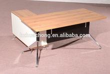 HC-M003 walnut color L shape office executive desk boss desk hot sell