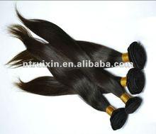 100% virgin human hair weaving weft brazilian human hair extension