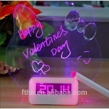 New Design Decorative fluorescent light alarm clock/digital LED alarm clock with highlighter pen