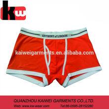 2014 Wholesale Fashion Orange Plain Color Men Underwear Man Boxer Shorts,Trunking