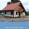 Quick assemble prefab homes log frame cabins summer house prefab wooden villa