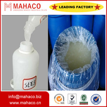 factory sale SLES sodium lauryl ether sulphate 70% for Detergent