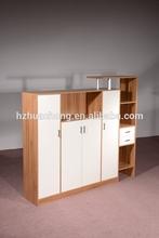 HC-M023 modern white office chipboard wooden file cabinet furniture