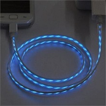 2014 hot sale made in china usb 2.0 cable led flow micro usb cable for Android