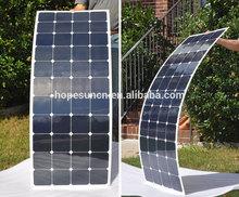 High efficiency 20% TUV standard semi flexible solar panel 120W marine flexible solar panel