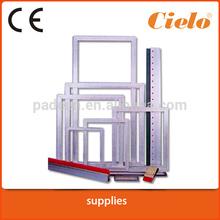 Screen printing aluminum frame for run machine printing