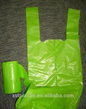tie topT-shirt trash bag garbeg bag in roll