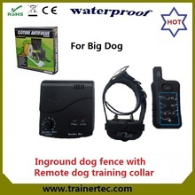rechargeable and waterproof electric shock device & 300 meter remote dog training collar