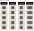 ساخنة جديدة تصميم الفاخرة ضوء التحول الجدار مفاتيح الكهربائية والمقابس( لوحة الذهب cyrstal) oem ce ccc