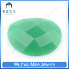 Wuzhou wholesale beautiful irregular green glass material Jade beads