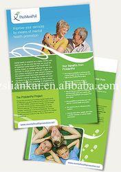 Custom printing a4 marketing flyer/booklet/leaflet/manual/brochure