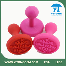 OEM welcome silicone cookie stamp