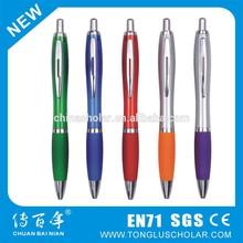 High grade orange ball pen with metal clip