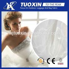 2014 hot sale polyrester organza fabric/silk organza fabric for bridal dress/crystal organza fabric