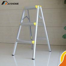 Double side foldable aluminium step ladder