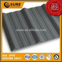 long service life rigid corrugated pvc roof sheets black