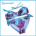 мягкие чашки женщины бассейн бикини, ремень купальный костюм для молодых девушек