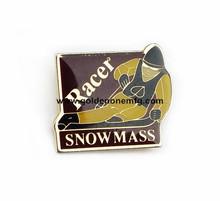 Wholesale snow mass racer soft enamel lapel pin