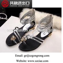 2014 Hot sale latest women flat sandals sexy shoes