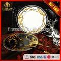 De lujo fine bone china pulgadas 7.5 cena de cerámica de la placa de caballero