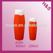 400ml 200ml plastic hair shampoo bottle packaging with white flip top cap